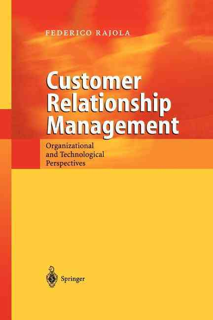 Customer Relationship Management By Rajola, Federico